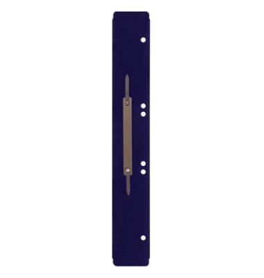 Heftstreifen lang 3011000400, 45x310mm, extra lang, Kunststoff mit Metalldeckleiste, blau, 100 Stück