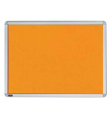 Pinnwand, 60x45cm, Textil, Aluminiumrahmen, orange