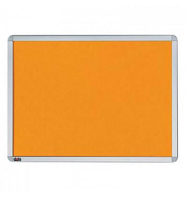 Pinnwand, 90x60cm, Textil, Aluminiumrahmen, orange