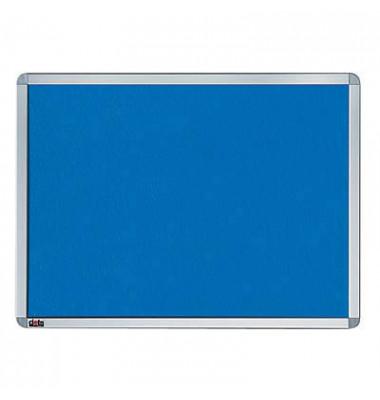 Pinnwand, 120x90cm, Textil, Aluminiumrahmen, blau