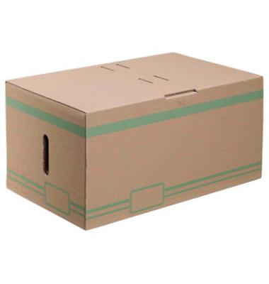 Archivcontainer 10 Stück braun für 6 Archivboxen mit 8cm Rücken 49 l