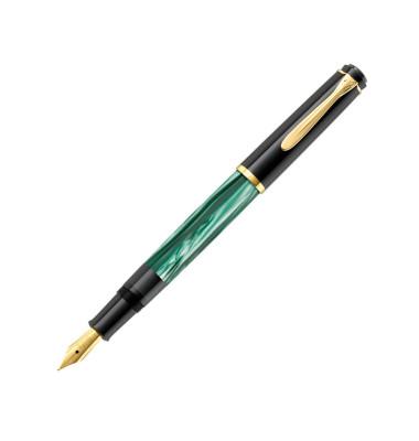 Füller M200 Tradition Kolbenfüller grün marmor Feder B