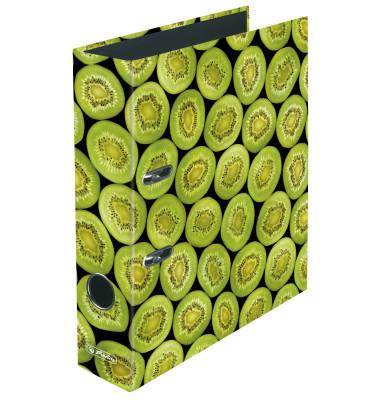 Ordner maX.file Fruits A4 breit 80mm Kiwimotiv