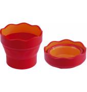 Wasserbecher CLICK & GO rot/orange