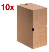 Archivboxen 10 Stück braun 12,0 l