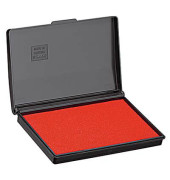 Stempelkissen 9051R Größe 1 rot getränkt 9x5cm im Kunststoffgehäuse