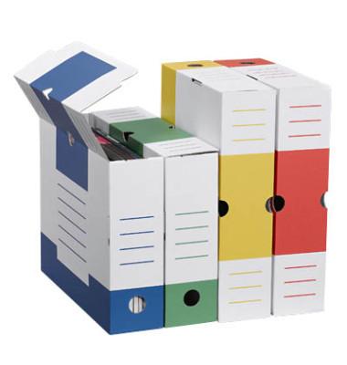 Archivboxen 8 Stück farbsortiert 6,0 l