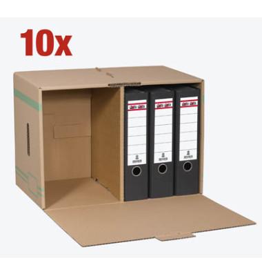 head archivcontainer 10 st ck braun f r 6 archivboxen mit 8cm r cken 49 l. Black Bedroom Furniture Sets. Home Design Ideas
