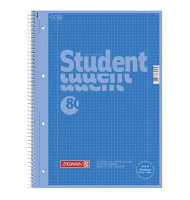 Collegeblock Student 80 10-67 928 532, A4 kariert, 90g 80 Blatt, 4-fach-Lochung