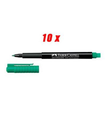 Folienstift Multimark 1513 F grün 0,6 mm 10er Etui permanent