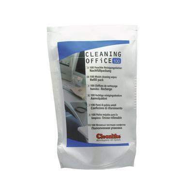 Universal-Reinigungstücher Cleaning Office 100 Nachfüllpackung für alle Bürogeräte 100 Tücher