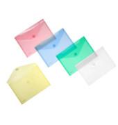 Umlauftaschen farbsortiert (je 2 St. in blau, grün, rot, gelb und transparent) Verschlussklappen seitlich DIN A5