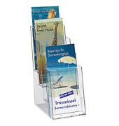 Prospekthalter transparent für Format DIN 1/3 A4