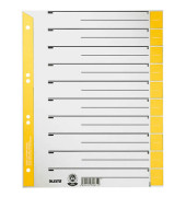 Trennblätter 1652 A4 grau/gelb farbige Taben 230g 25 Blatt