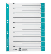 Trennblätter 1652 A4 grau/hellblau farbige Taben 230g 100 Blatt