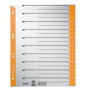 Trennblätter 1652 A4 grau/orange farbige Taben 230g 100 Blatt