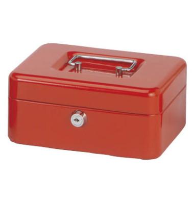 Geldkassette Stahlblech Größe 2, rot
