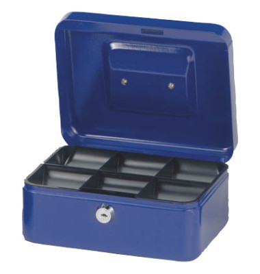 Geldkassette Stahlblech Größe 2, blau