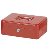 Geldkassette Stahlblech Größe 3 rot