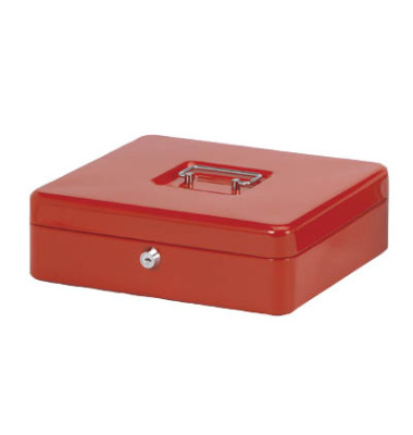 Geldkassette Stahlblech Größe 4, rot