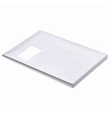 Faltentaschen C4 mit Fenster 20mm Falte haftklebend 130g weiß 100 Stück