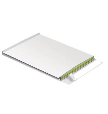 Faltentaschen B4 ohne Fenster 20mm Falte haftklebend 130g weiß 100 Stück