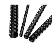 Plastikbinderücken 5345307 schwarz US-Teilung 21 Ringe auf A4 20 Blatt 6mm 100 Stück