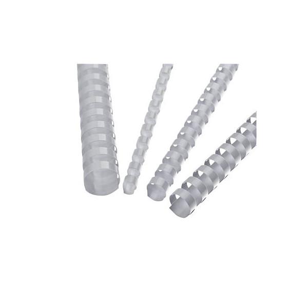 Plastikbinderücken 21 Ringe 10mm weiss