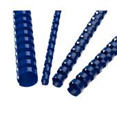 Plastikbinderücken 5346305 blau US-Teilung 21 Ringe auf A4 80 Blatt 12mm 100 Stück
