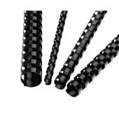 Plastikbinderücken 5346507 schwarz US-Teilung 21 Ringe auf A4 80 Blatt 12mm 100 Stück