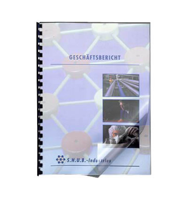 Umschlagfolien 5375901 A4 PVC 0,18 mm transparent glänzend 100 Stück