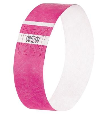 Eventbänder Super Soft/EB210 255x25 mm neon pink Inh.120 ST