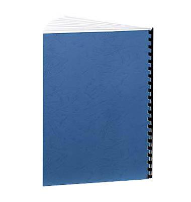 Umschlagkarton Delta 5371305 A4 Karton 250 g/m² blau Lederstruktur 100 Stück