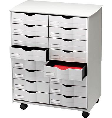 Ablagewagen DT162.02 Kunststoff grau 16normale Schubladen