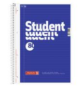 Collegeblock Student A4 liniert perforiert gelocht 80 Blatt 5 Stück