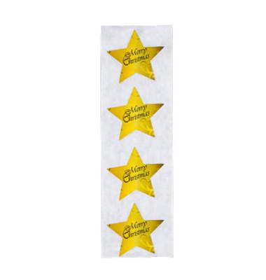 Aufkleber Christmas Stars 4,7 x 4,7cm 200 Stück
