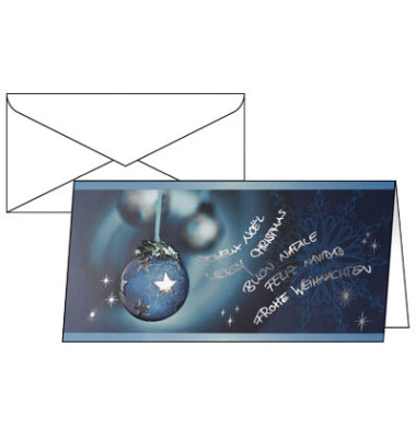 Weihnachtskarten Miracle Din Lang 10 Stück inkl. weißen Umschlägen DS349