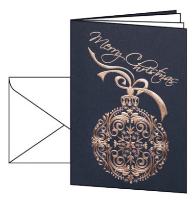 Weihnachtskarten Noblesse A6 10 Stück inkl. weißen Umschlägen DS346