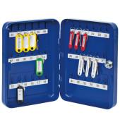 Schlüsselschrank mit 36 Schlüsselhaken blau