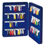 Schlüsselschrank mit 70 Schlüsselhaken blau