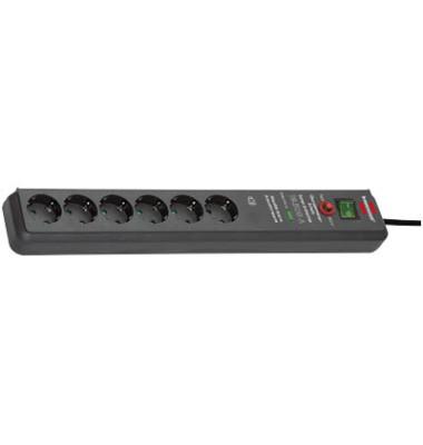 6-fach Steckdosenleiste Secure-Tec mit Überspannungsschutz
