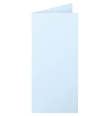 PPP Doppelkarten DL/12539C blau 210 g/qm Inh.25