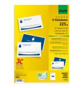 LP850 3C- Visitenkarten weiß 85 x 55 mm 225 g 100 Stück beidseitig bedruckbar