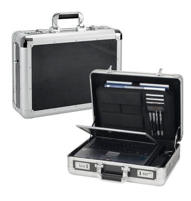 Notebook-Attachékoffer Carbon-Look schwarz/silber bis 17 Zoll