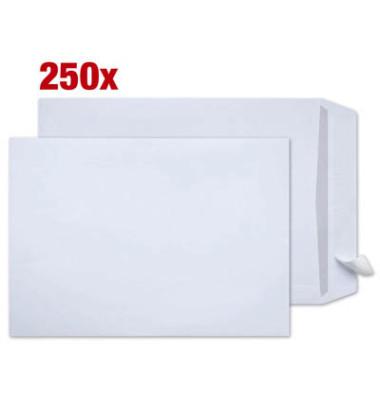 Versandtaschen B4 ohne Fenster haftklebend 120g weiß 250 Stück