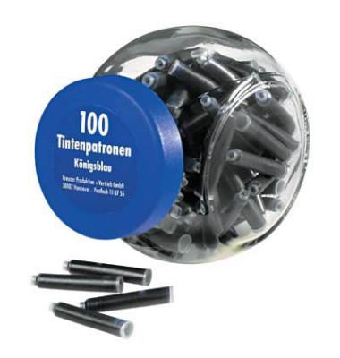 Füllerpatronen 4001TP/6 königsblau 100 Stück im Glas