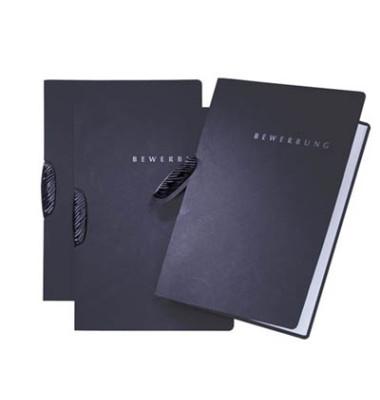 Bewerbungsmappe 22004 Basic Swing mit Clip A4 bis 15 Blatt schwarz