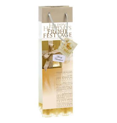 Geschenktüten Golden Shimmer gold/weiß 10 x 8 x 35cm 5 Stück