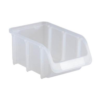 Sichtlagerkasten transparent 0,73 Liter 102x164x74mm
