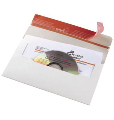 CD/DVD-Versandtasche 121x220 mm ohne Fenster 20 Stück